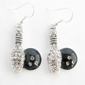 Bowling Ball and Pin Earrings